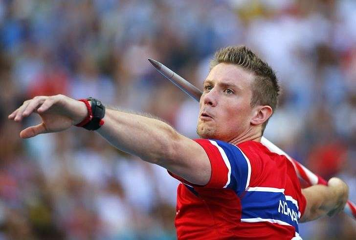 Two-time Olympic javelin gold medalist Andreas Thorkildsen ... Andreas Thorkildsen