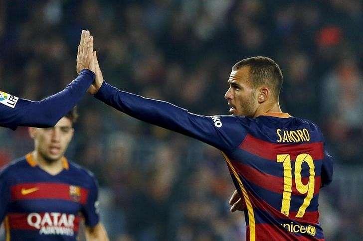 Striker Sandro to leave Barcelona