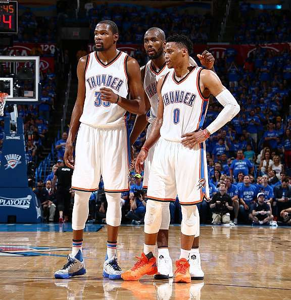 NBA Playoffs 2016: Thunder halt Spurs to book Western Conference finals date with Warriors