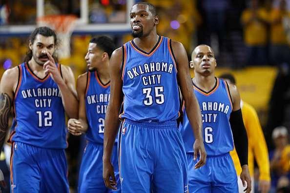 2016 NBA Western Finals: Thunder stun Warriors in Game 1