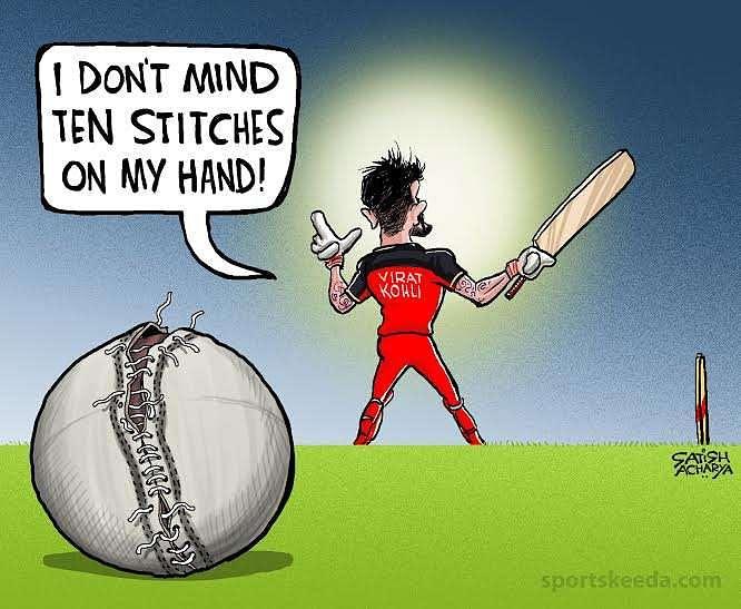 Comic: Virat Kohli's stitches