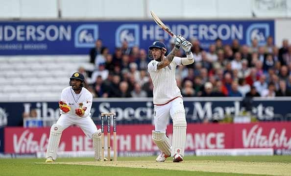 England vs Sri Lanka 2016: Alex Hales 'leaves' his mark on Test cricket