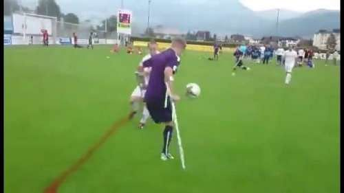 Manchester City FC amputee player scores a stunning solo goal