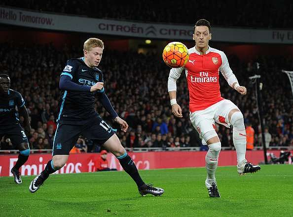 Manchester City vs Arsenal - Combined XI for 2015/16