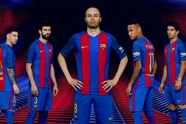 FC Barcelona unveil new Nike home kit for 2016 / 2017 season