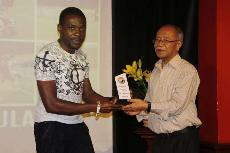 Penn Orji awarded player of the year in Shillong Lajong's end of season awards