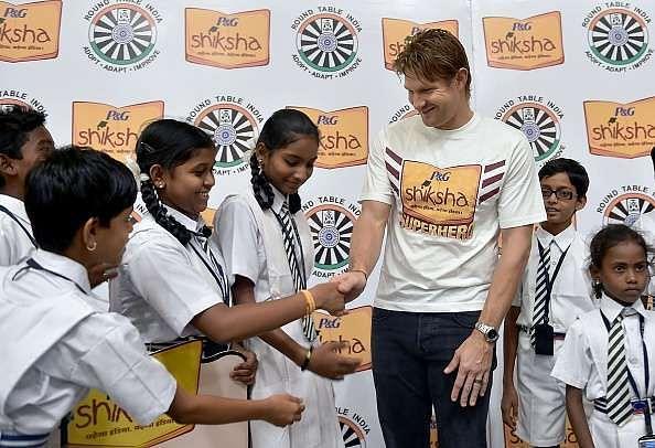 Shane Watson bats for P&G's flagship corporate social responsibility programme P&G Shiksha