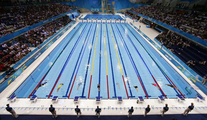 Fast swimmers make fast pools but science lends a hand for Olympic swimming pool pictures