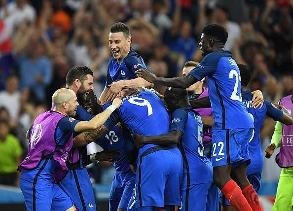France routs Germany, 2-0, secures Euro final