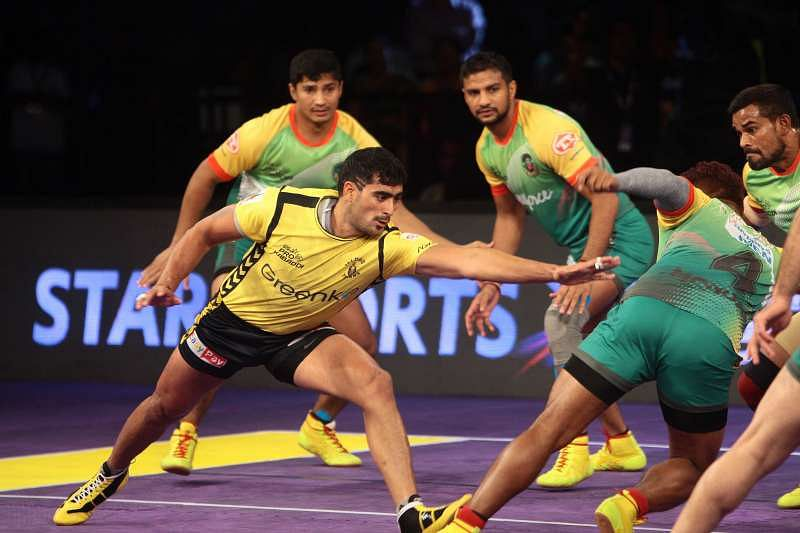 Image result for Patna Pirates crushes Telugu Titans in Pro Kabaddi League 2017