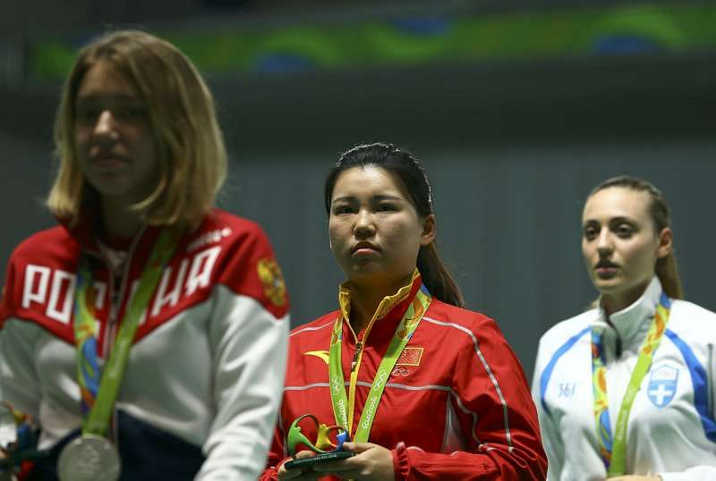 Pistol shooter Zhang Mexngxue wins China's first gold in Rio