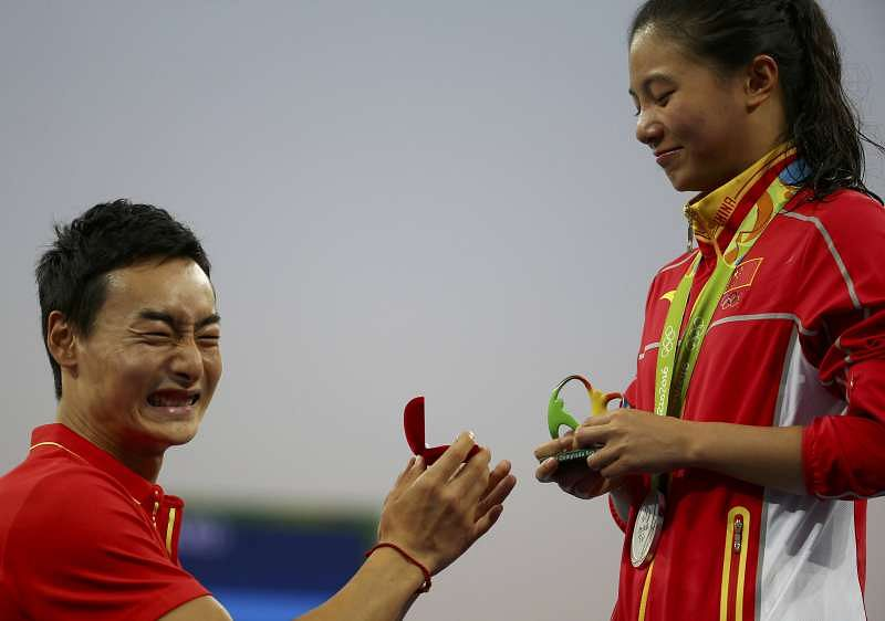 Image result for Chinese Diver He Zi AT Rio 2016