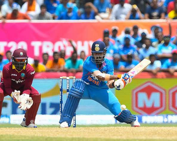Virat Kohli has set high standards with his work ethic says KL Rahul Rahul plays a reverse sweep against West Indies in Florida