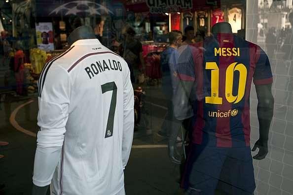 Cristiano Ronaldo Lionel Messi jersey
