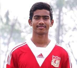 Ashique Kuruniyan in Pune FC Academy kit