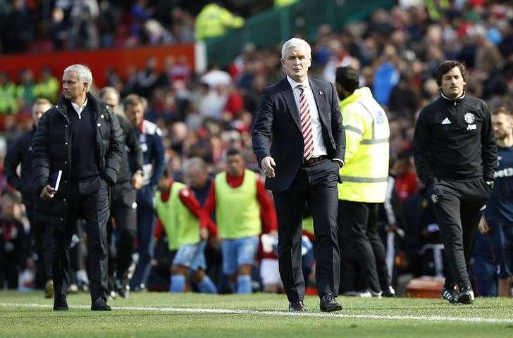 Hughes hails Grant after heroics against Man United