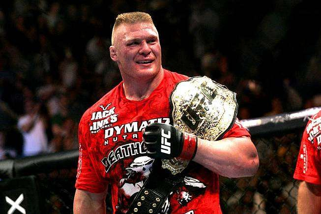 brock lesnar record