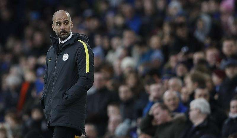 Title is beyond Manchester City after Everton loss, says Guardiola