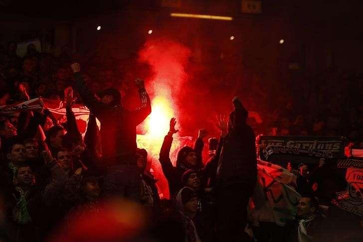 uefa act against st etienne after fans lit flares. Black Bedroom Furniture Sets. Home Design Ideas