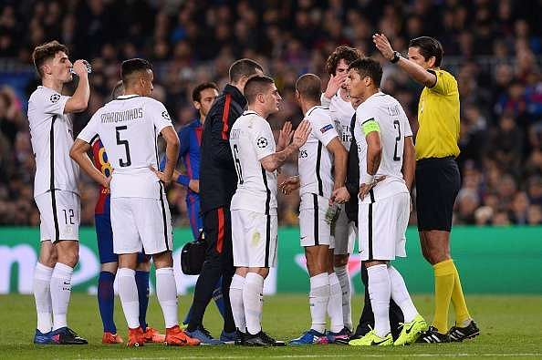 Reports: Referee abused PSG's players during Barcelona's ...