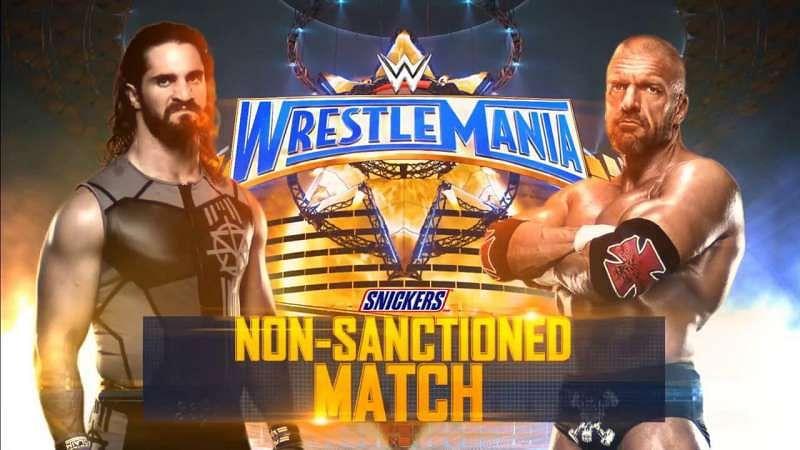 Image result for Non-Sanctioned Match Triple H vs. Seth Rollins