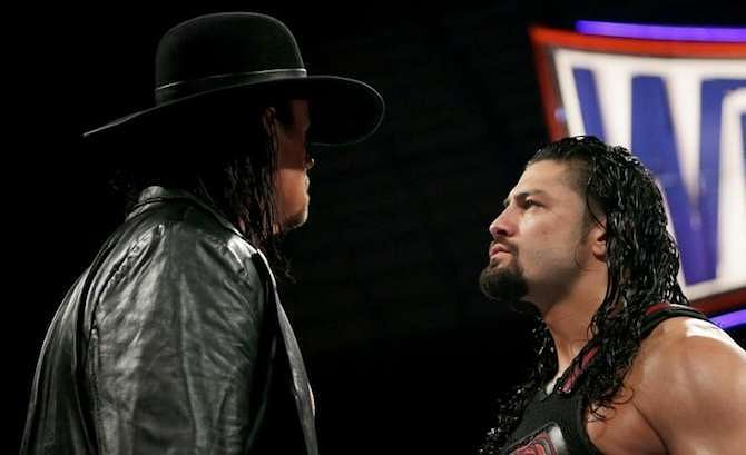 Image result for The Undertaker vs. Roman Reigns