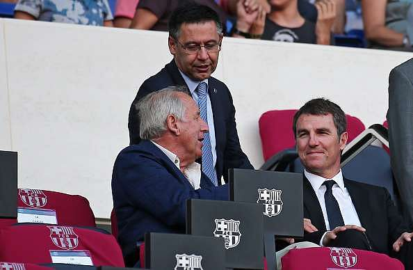 robert fernandez and Barcelona president