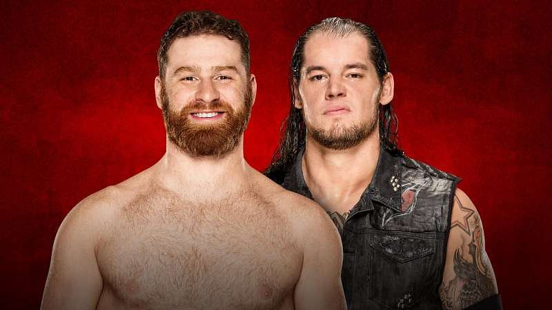 Image result for sami zayn vs baron corbin backlash