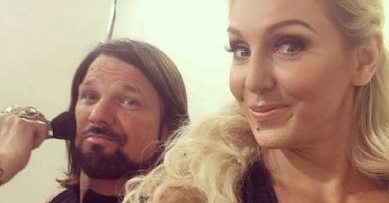 wwe news aj styles and charlotte get into some fun banter