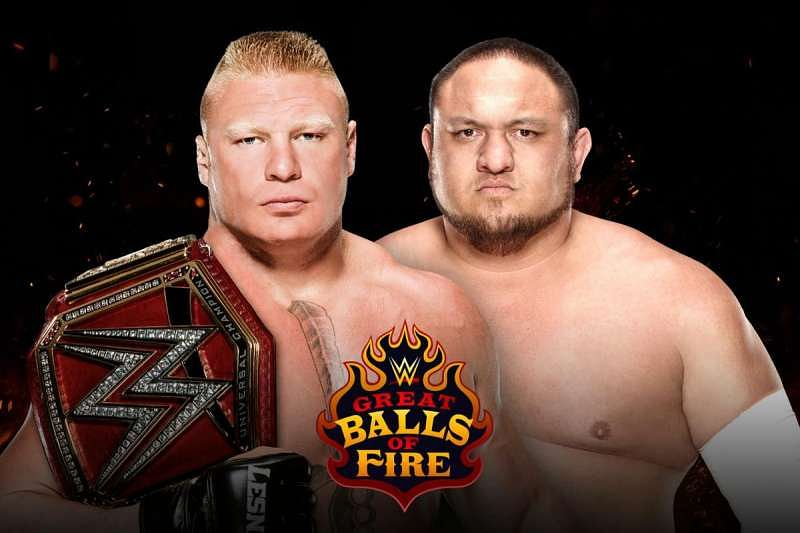 Image result for brock lesnar samoa joe