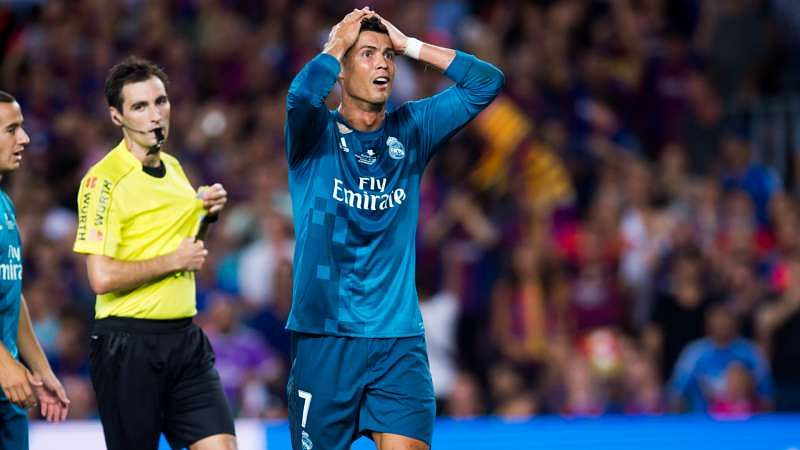 Image result for ronaldo vs barcelona 2017 red card