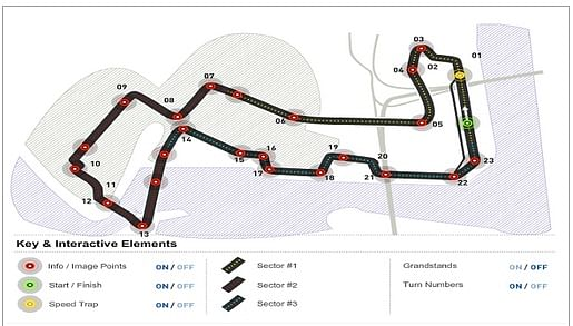 monaco grand prix track layout. The track layout is unique in